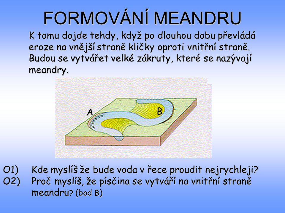 FORMOVÁNÍ MEANDRU