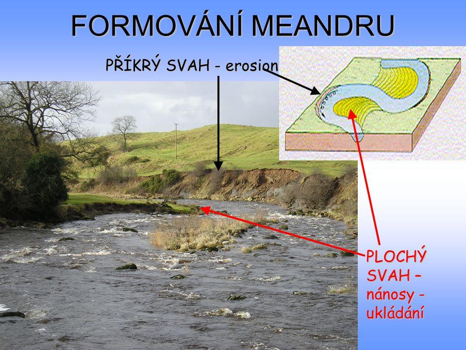 FORMOVÁNÍ MEANDRU PŘÍKRÝ SVAH - erosion