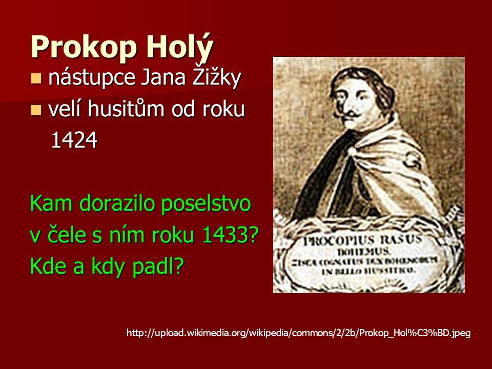 Prokop Holý nástupce Jana Žižky velí husitům od roku 1424