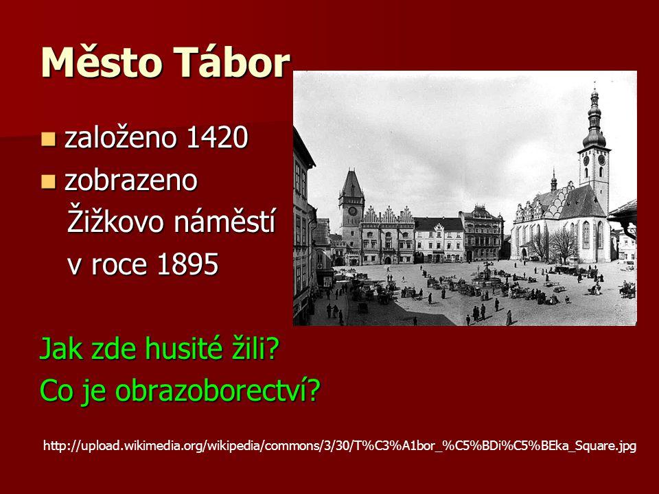 Město Tábor založeno 1420 zobrazeno Žižkovo náměstí v roce 1895