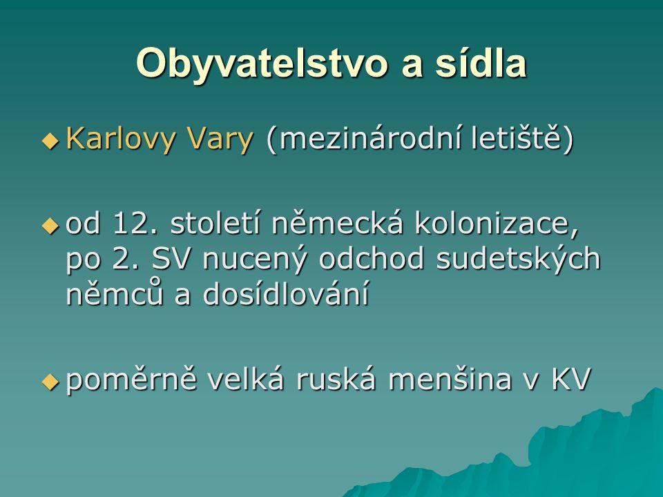 Obyvatelstvo a sídla Karlovy Vary (mezinárodní letiště)