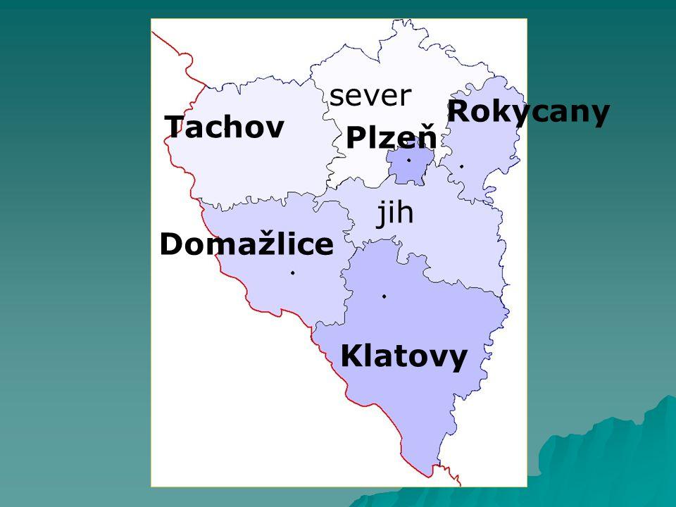 sever Rokycany Tachov Plzeň jih Domažlice Klatovy