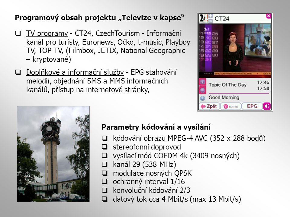 """Programový obsah projektu """"Televize v kapse"""