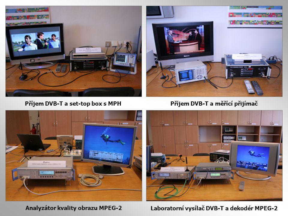 Příjem DVB-T a set-top box s MPH Příjem DVB-T a měřící přijímač