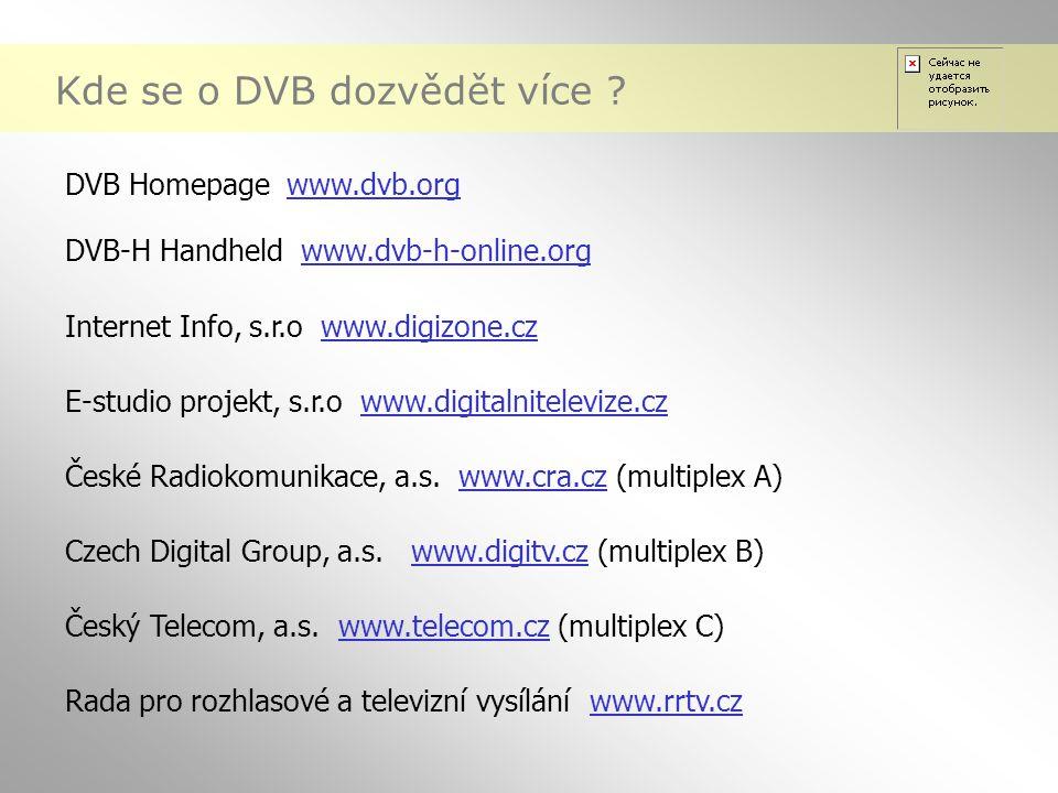 Kde se o DVB dozvědět více