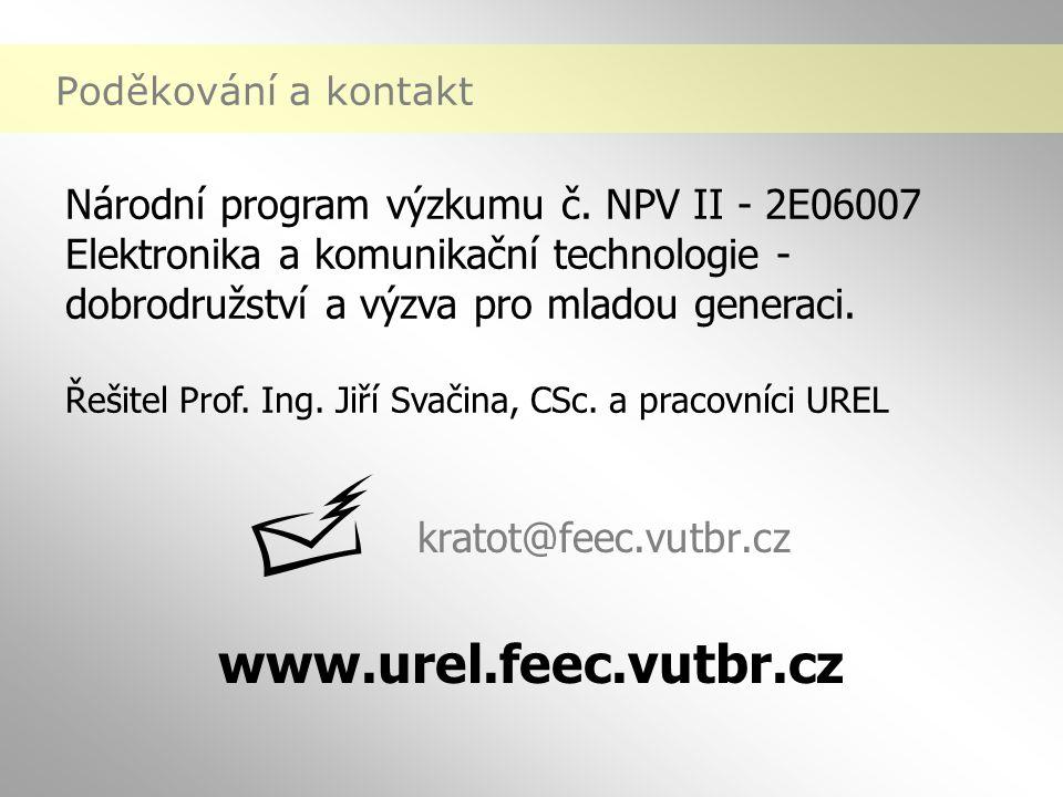 www.urel.feec.vutbr.cz Poděkování a kontakt