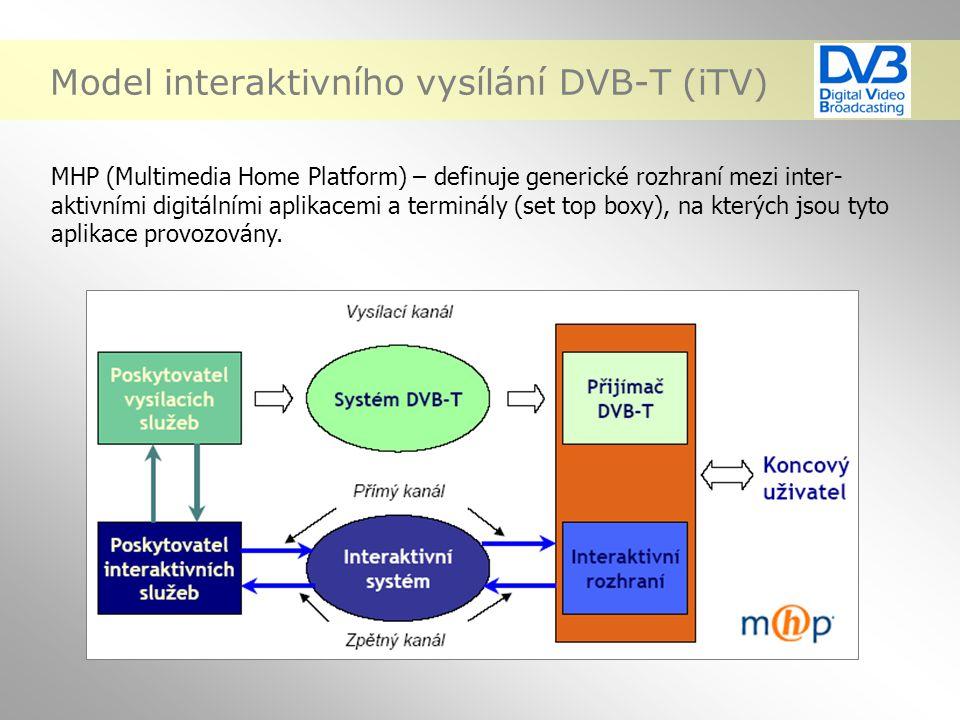 Model interaktivního vysílání DVB-T (iTV)