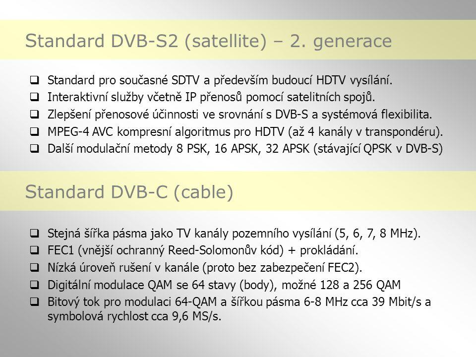 Standard DVB-S2 (satellite) – 2. generace