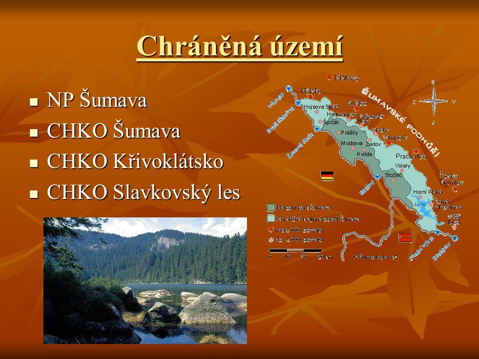 Chráněná území NP Šumava CHKO Šumava CHKO Křivoklátsko