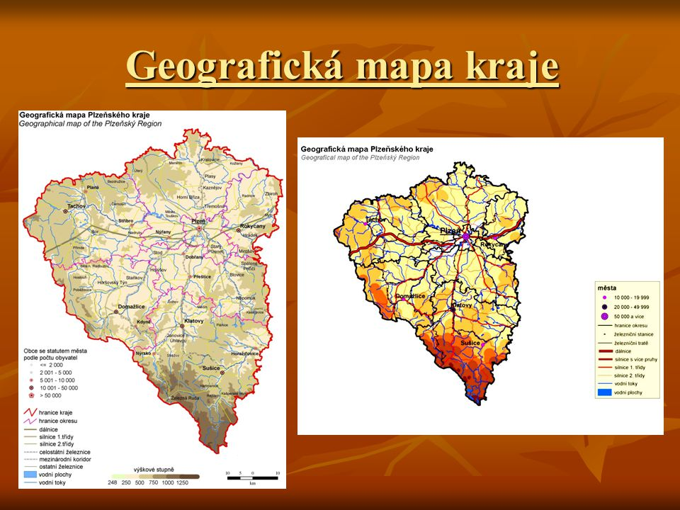 Geografická mapa kraje