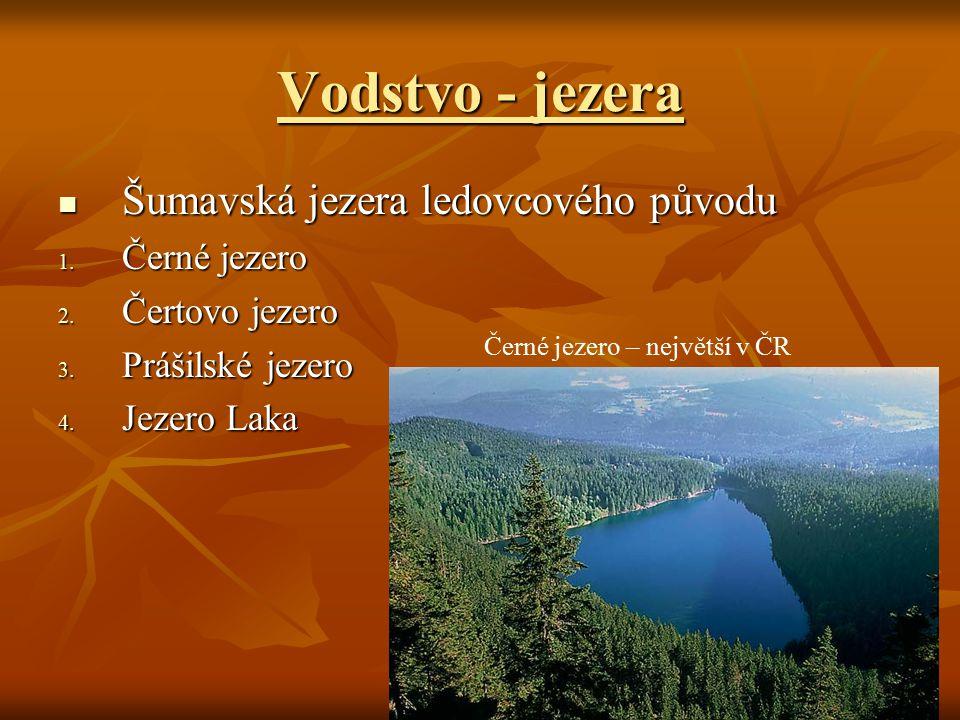 Černé jezero – největší v ČR