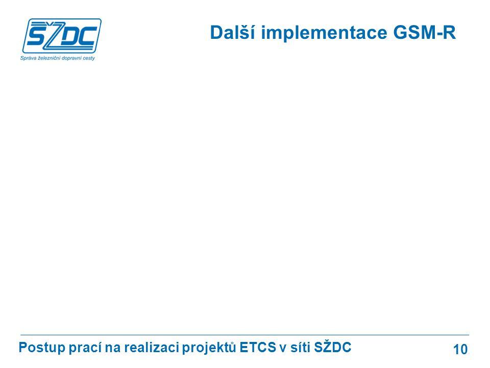 Další implementace GSM-R