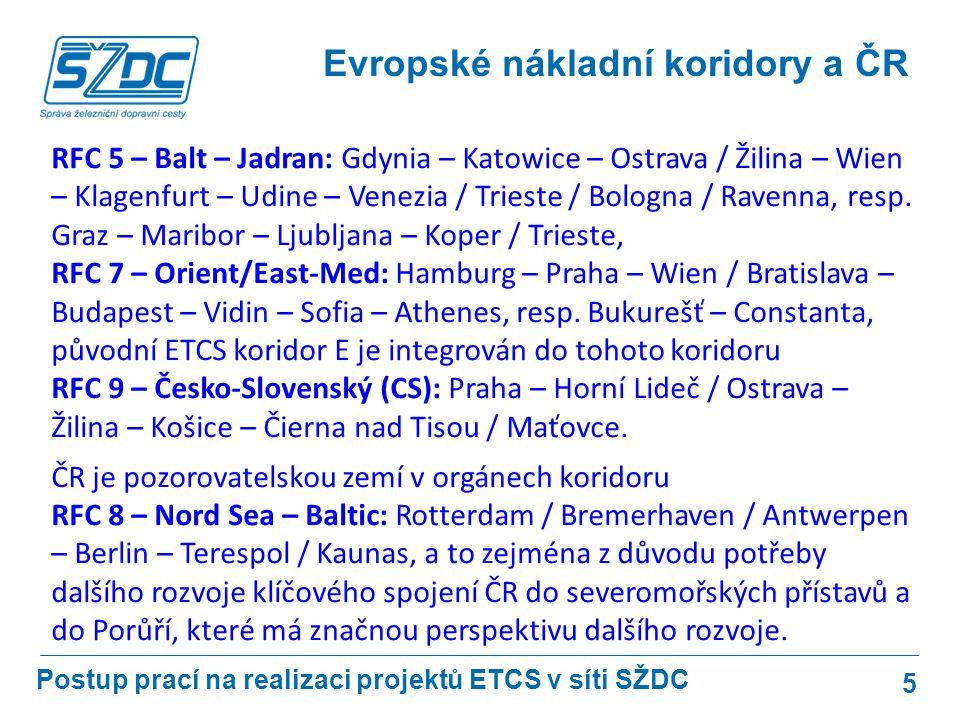 Evropské nákladní koridory a ČR