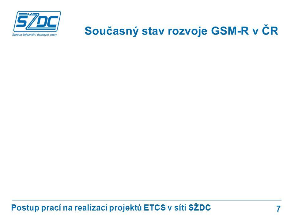 Současný stav rozvoje GSM-R v ČR