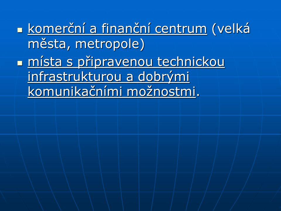 komerční a finanční centrum (velká města, metropole)