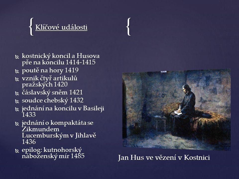 Jan Hus ve vězení v Kostnici