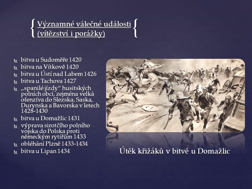 Útěk křižáků v bitvě u Domažlic