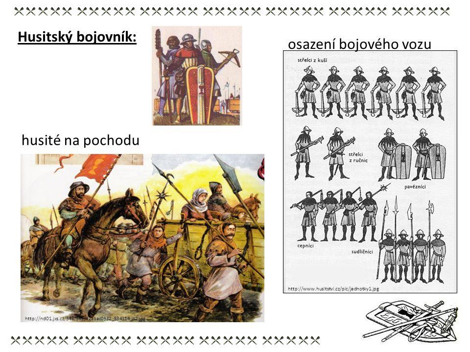 Husitský bojovník: osazení bojového vozu husité na pochodu