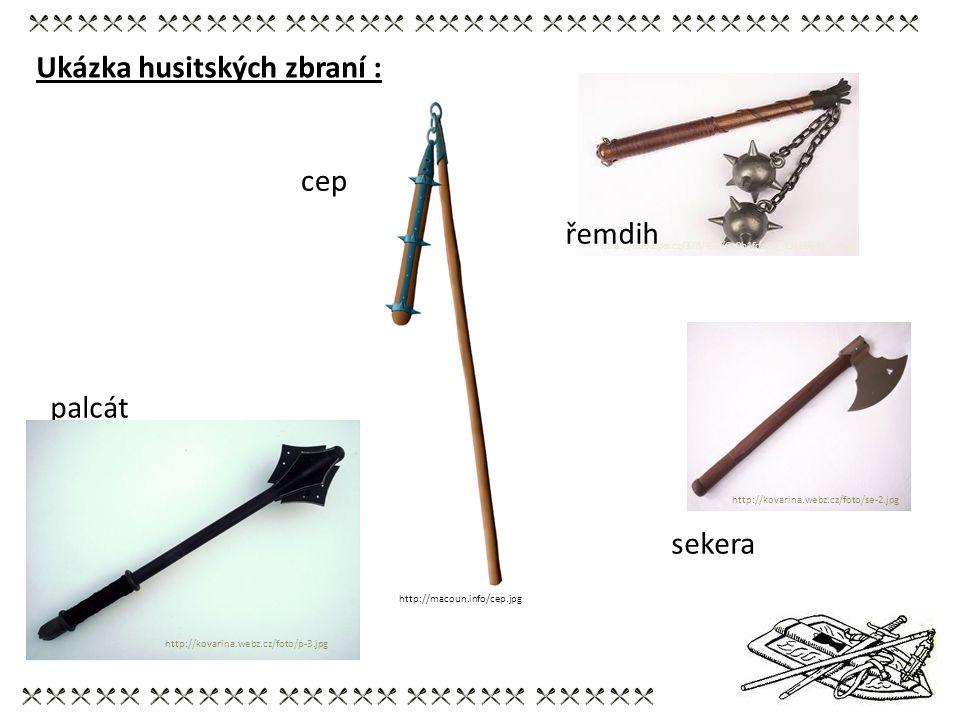 Ukázka husitských zbraní :