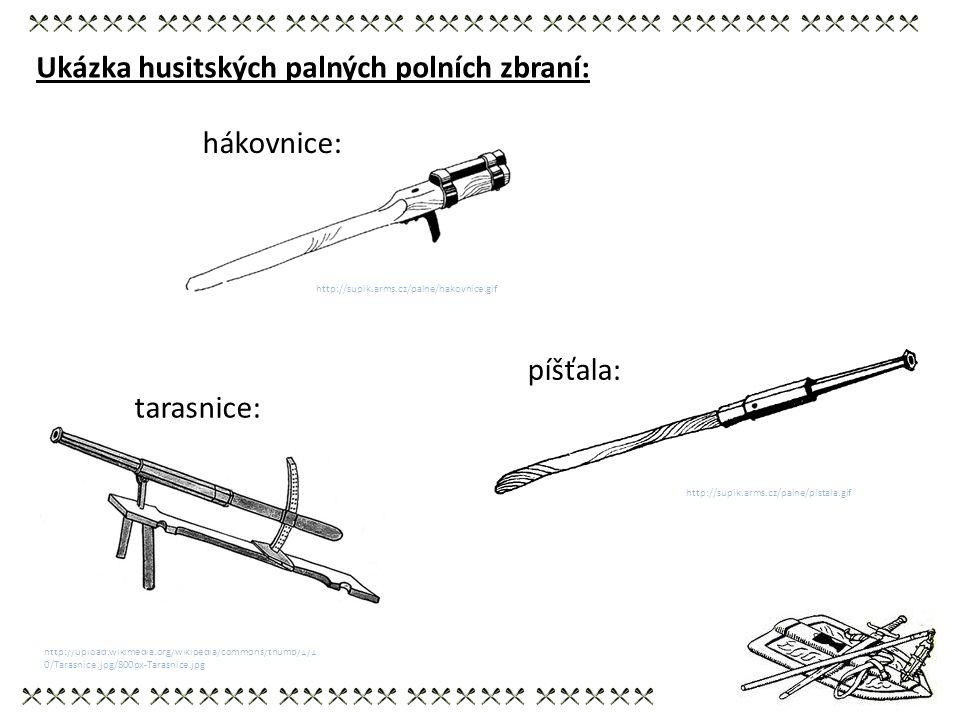 Ukázka husitských palných polních zbraní:
