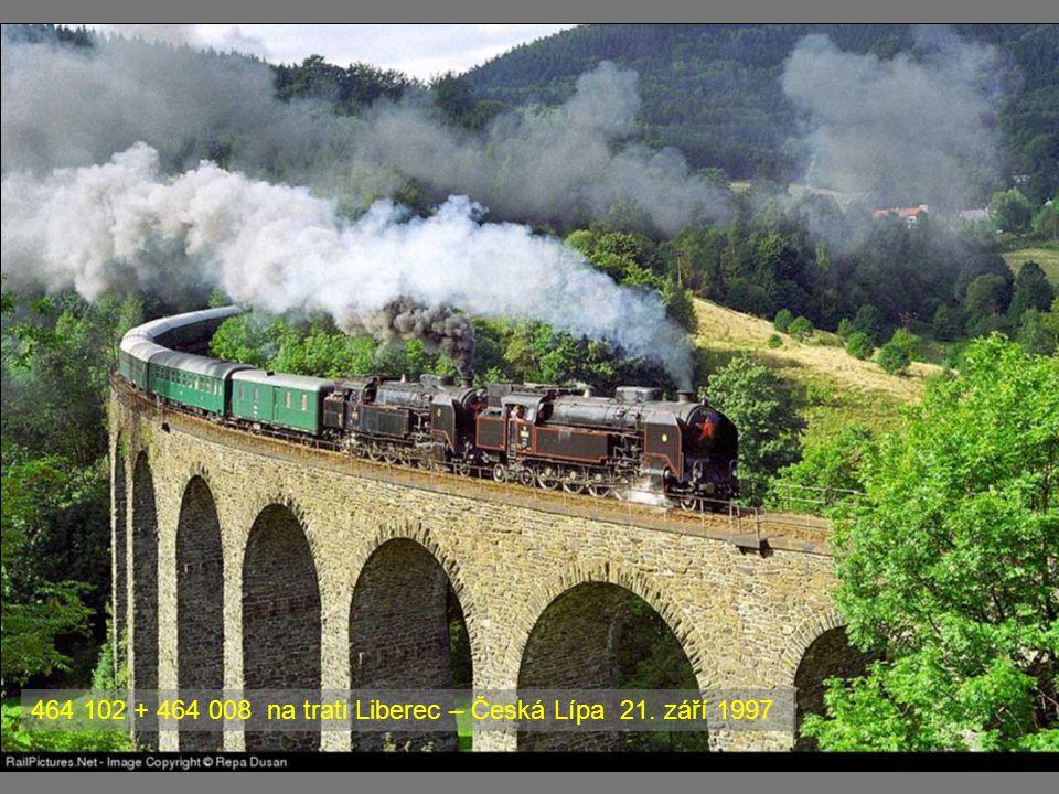 464 102 + 464 008 na trati Liberec – Česká Lípa 21. září 1997