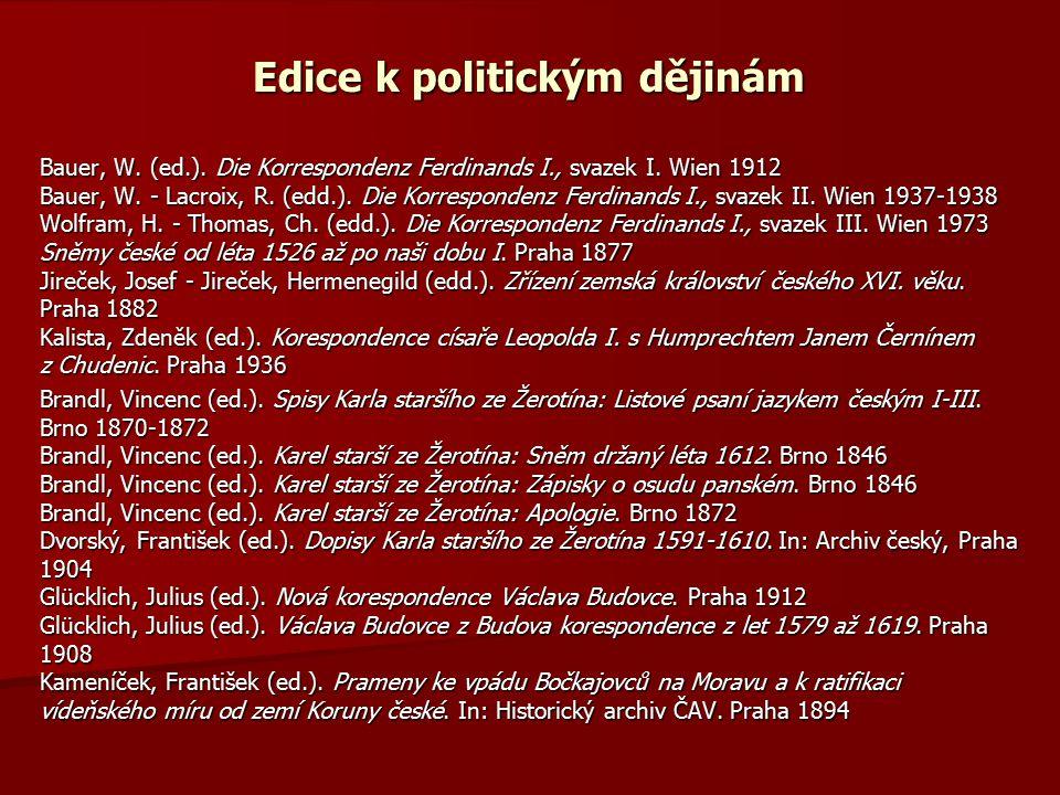 Edice k politickým dějinám