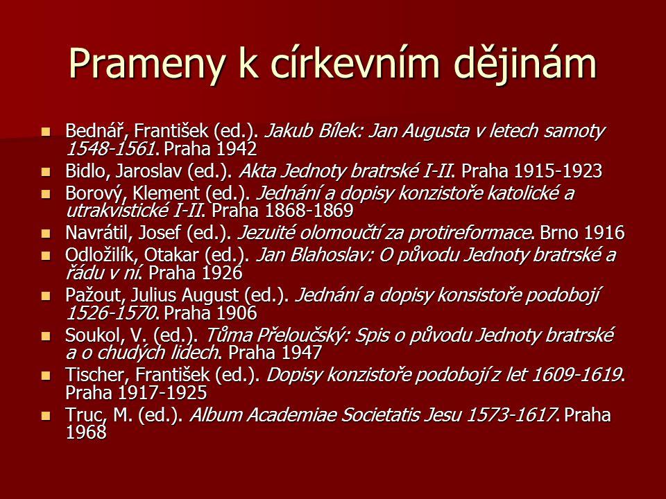 Prameny k církevním dějinám