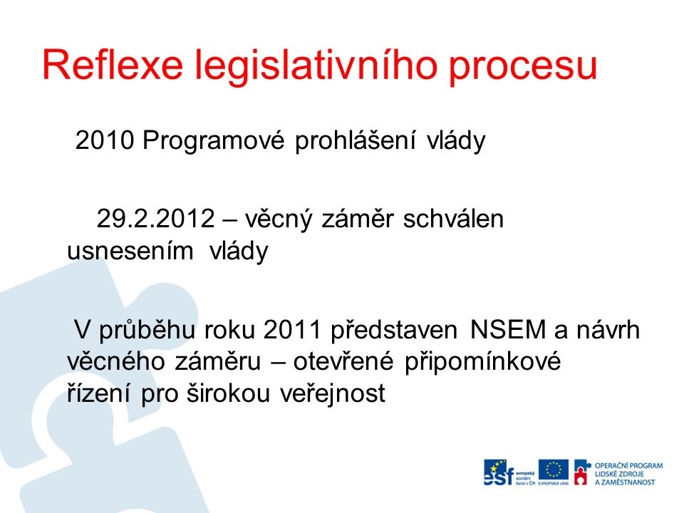 Reflexe legislativního procesu