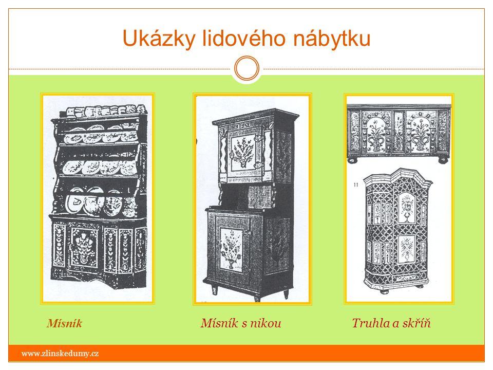 Ukázky lidového nábytku