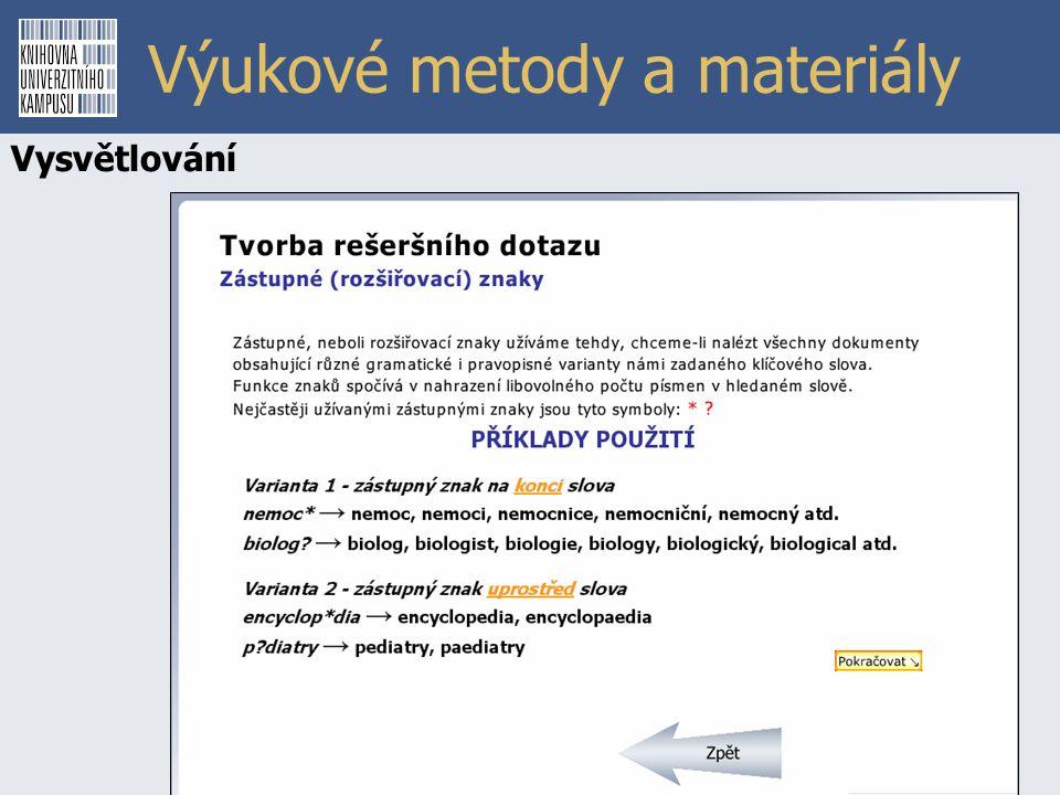 Výukové metody a materiály