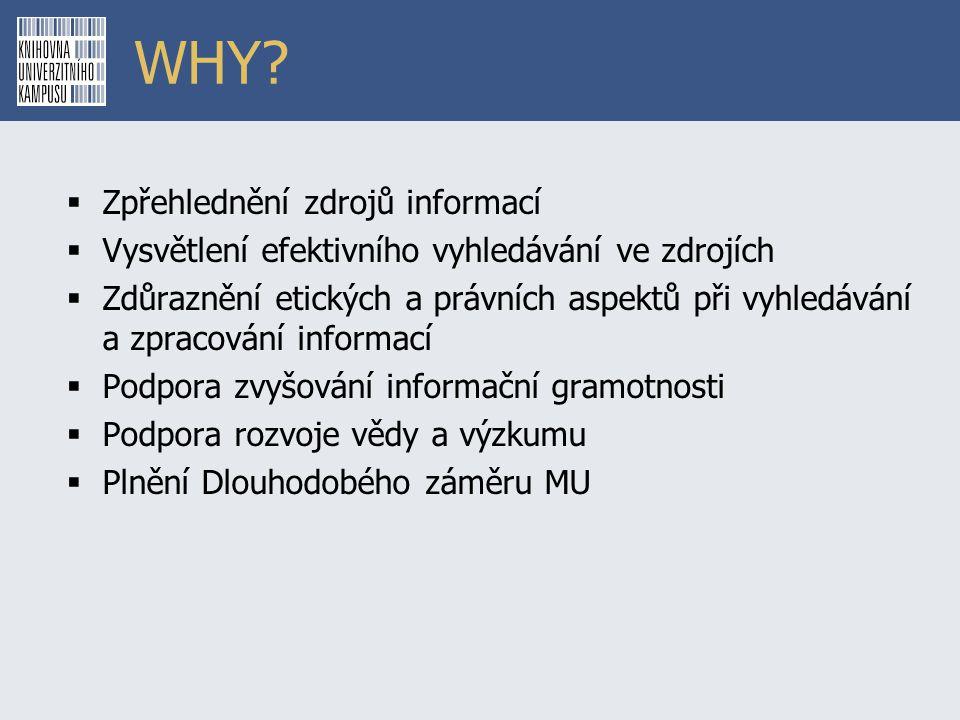 WHY Zpřehlednění zdrojů informací