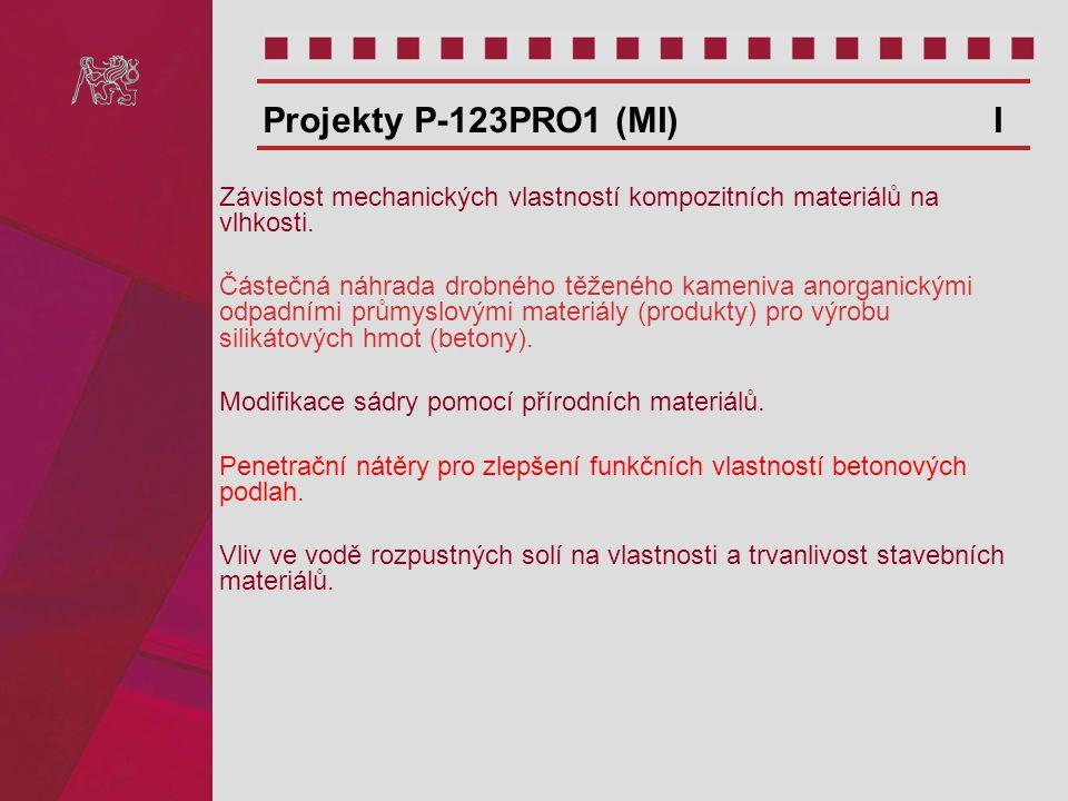 Projekty P-123PRO1 (MI) I Závislost mechanických vlastností kompozitních materiálů na vlhkosti.