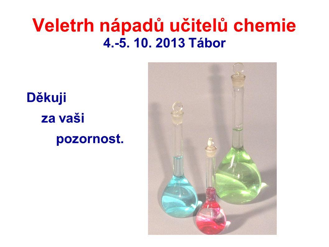 Veletrh nápadů učitelů chemie 4.-5. 10. 2013 Tábor