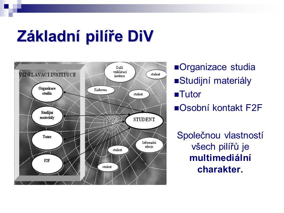 Společnou vlastností všech pilířů je multimediální charakter.