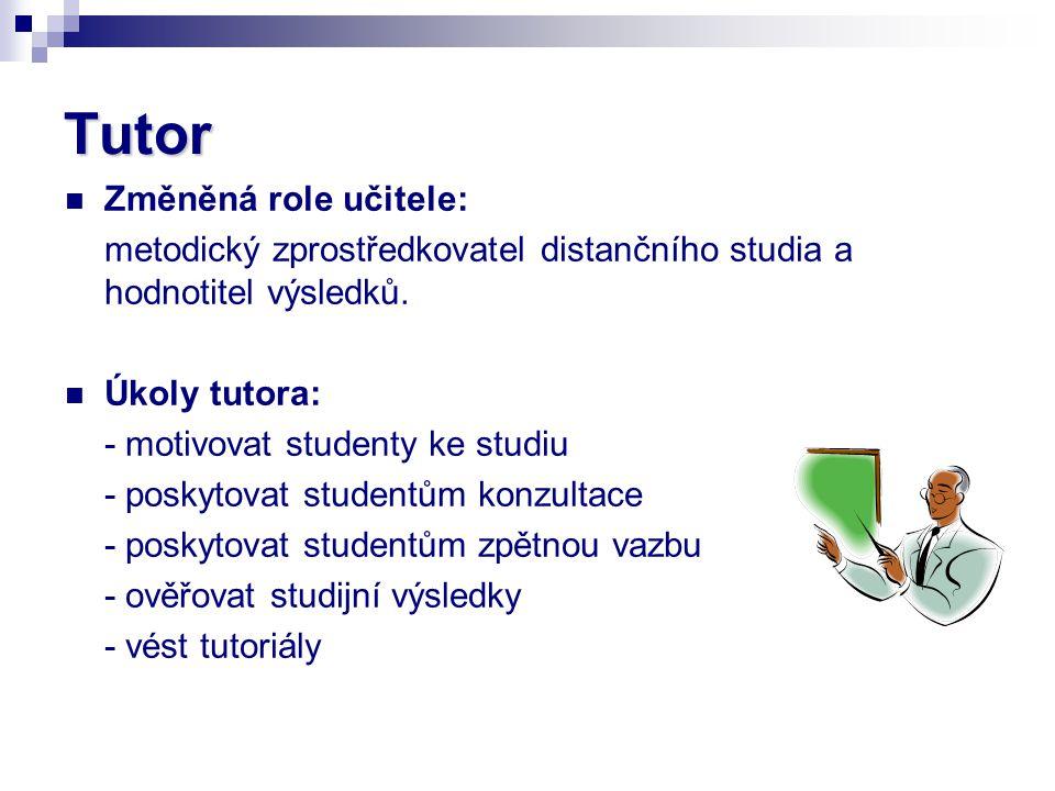 Tutor Změněná role učitele: