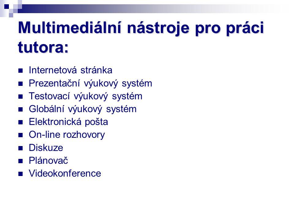 Multimediální nástroje pro práci tutora:
