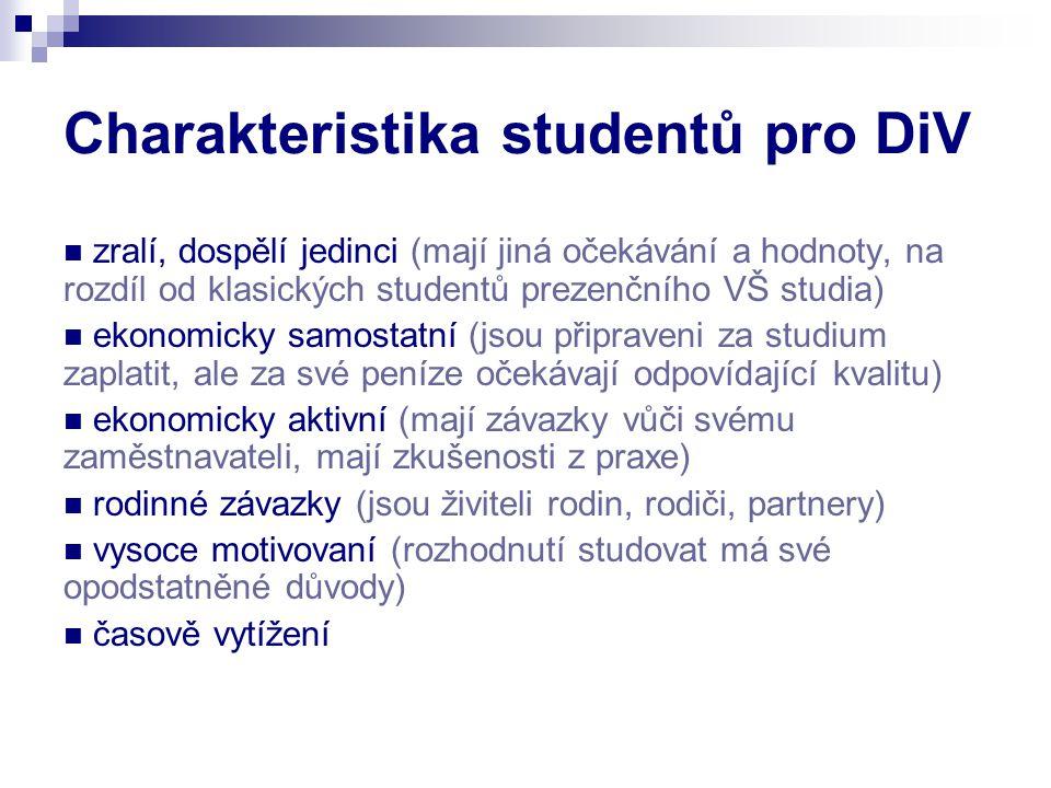 Charakteristika studentů pro DiV