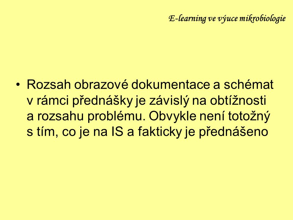 E-learning ve výuce mikrobiologie