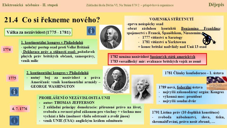 21.4 Co si řekneme nového Válka za nezávislost (1775 - 1781)