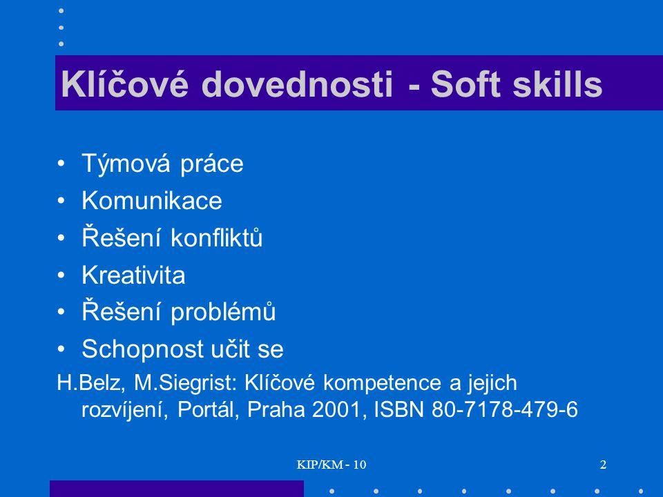Klíčové dovednosti - Soft skills