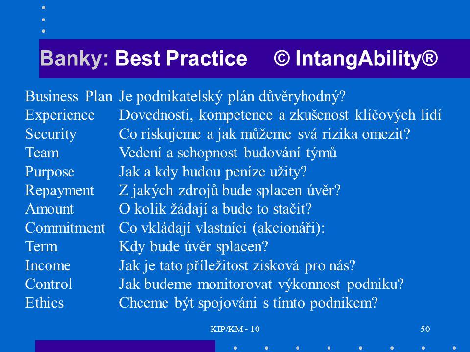 Banky: Best Practice © IntangAbility®