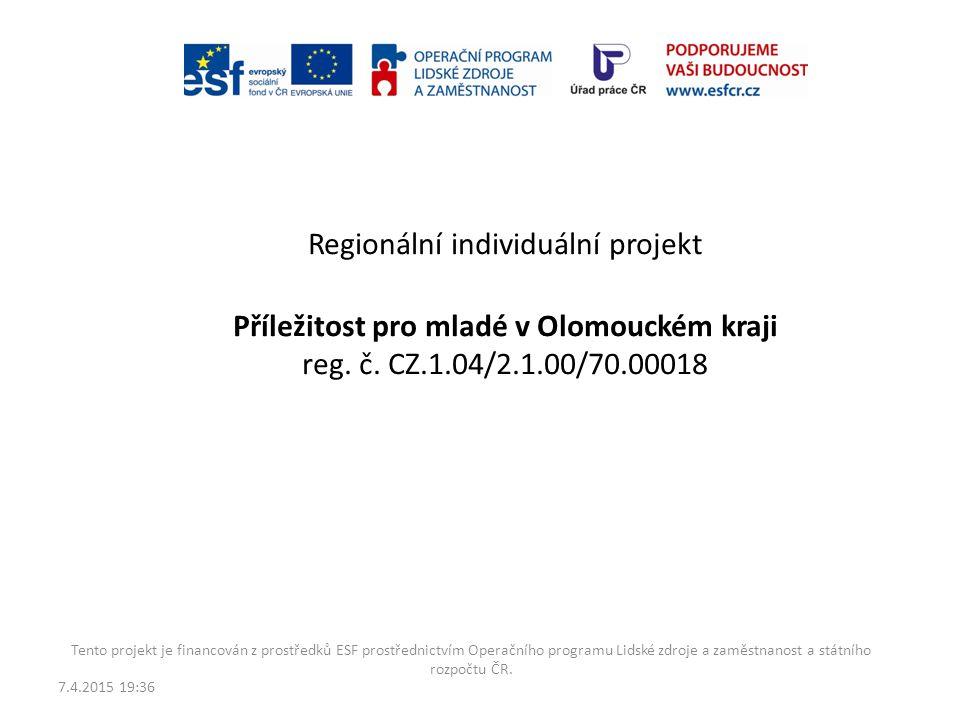 Regionální individuální projekt