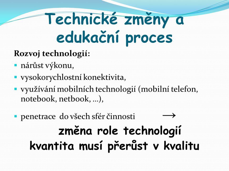 Technické změny a edukační proces