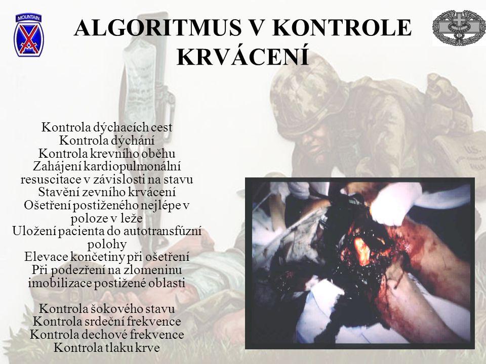 ALGORITMUS V KONTROLE KRVÁCENÍ