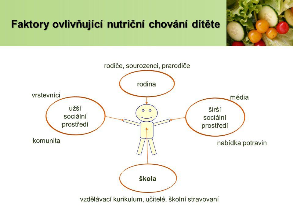 Faktory ovlivňující nutriční chování dítěte