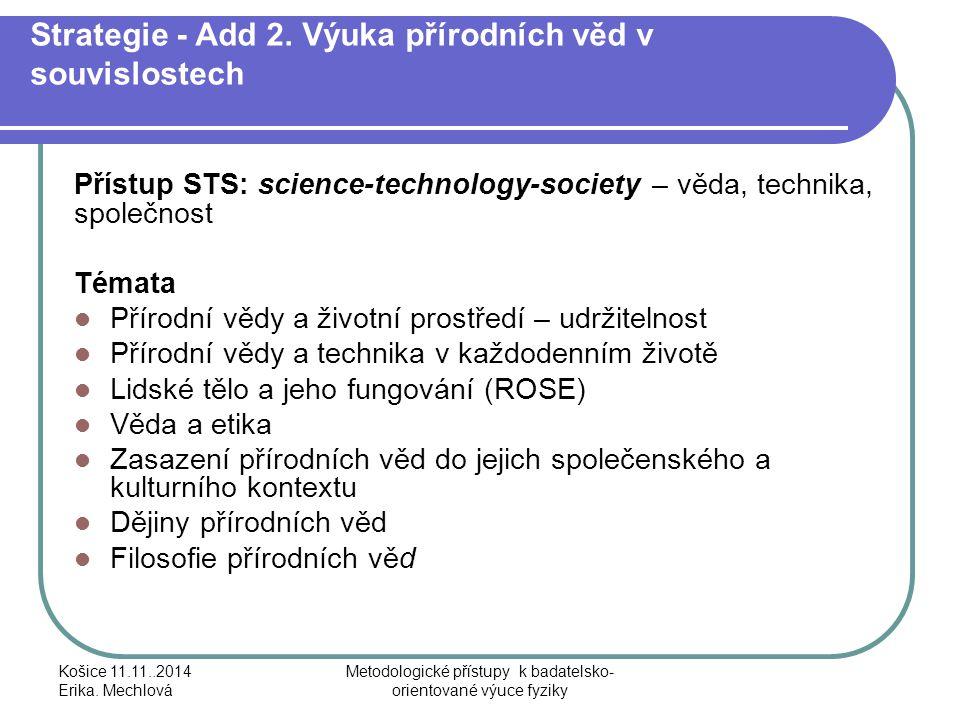Strategie - Add 2. Výuka přírodních věd v souvislostech