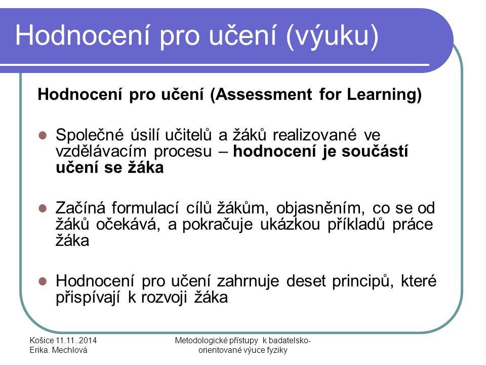 Hodnocení pro učení (výuku)