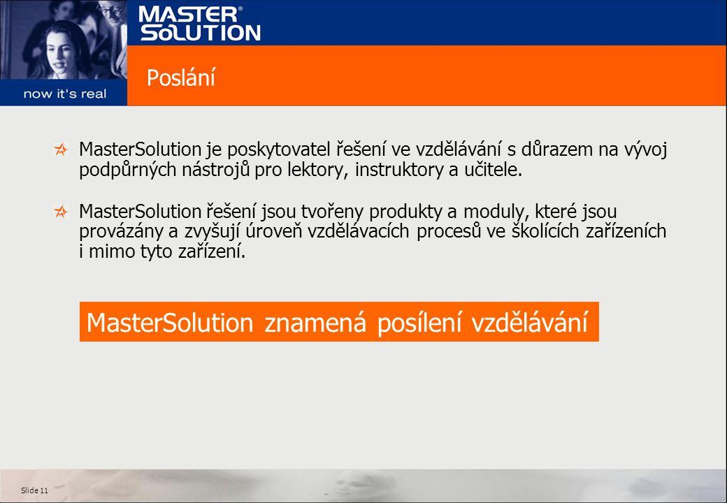 MasterSolution znamená posílení vzdělávání
