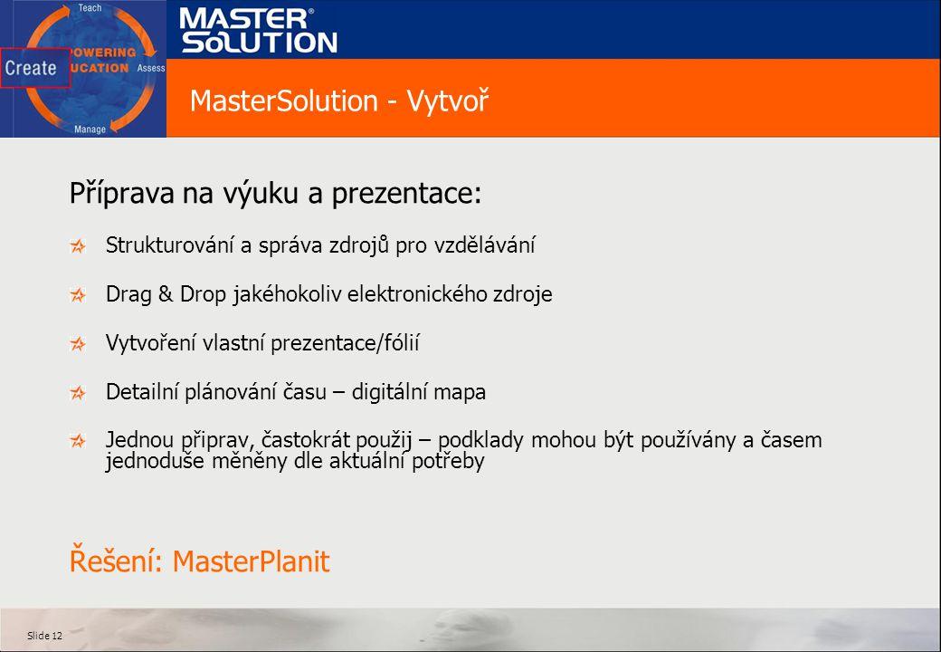 MasterSolution - Vytvoř