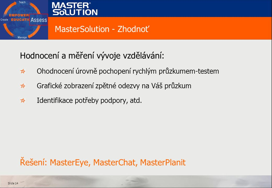 MasterSolution - Zhodnoť